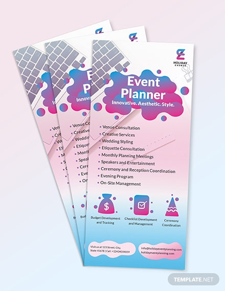 Sample Event Planner Rack Card