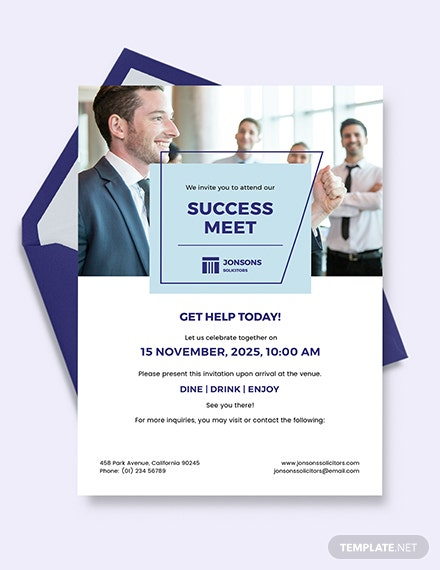Law Firm Invitation Template