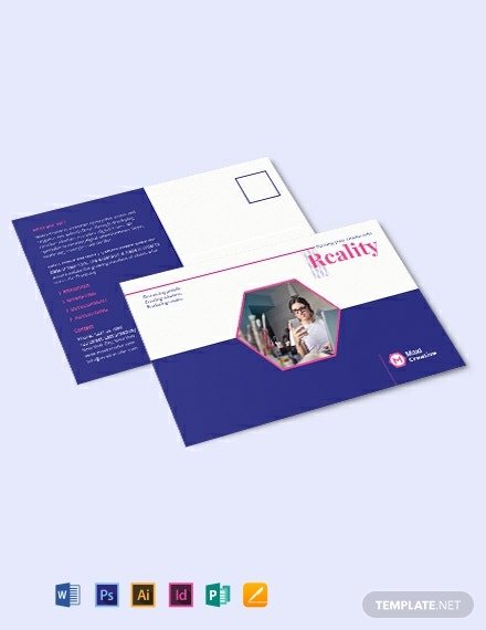 Creative Agency Post card Template