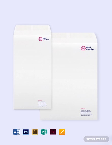 Creative Agency Envelope Template