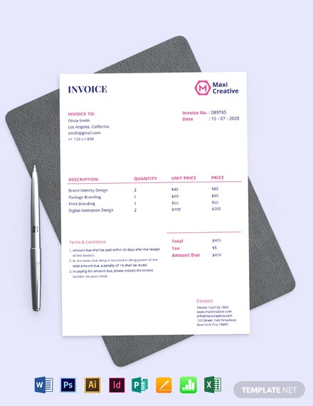 Creative Agency Invoice Template