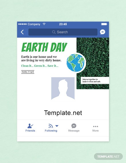 Free Earth Day Facebook App Cover Template