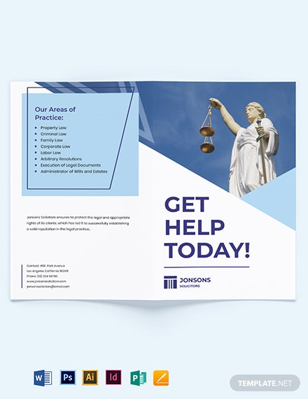 Law Firm Bi-Fold Brochure Template