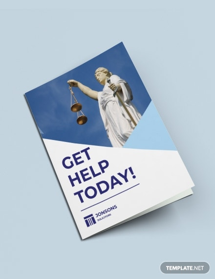 Law Firm Bi-Fold Brochure Template