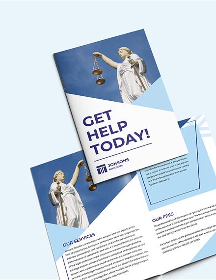 Sample Law Firm BiFold Brochure