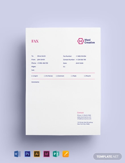 Creative Agency Fax Paper Template