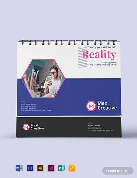 Creative Agency Desk Calendar Template Word Doc Psd Indesign Apple Mac Pages Publisher Illustrator Template Net