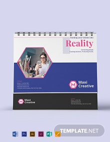 Creative Agency Desk Calendar Template