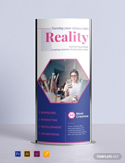 Creative Agency Rollup Banner Template