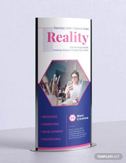 Download Creative Agency Rollup Banner Template
