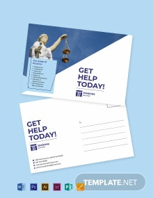 law Firm Post Card Template