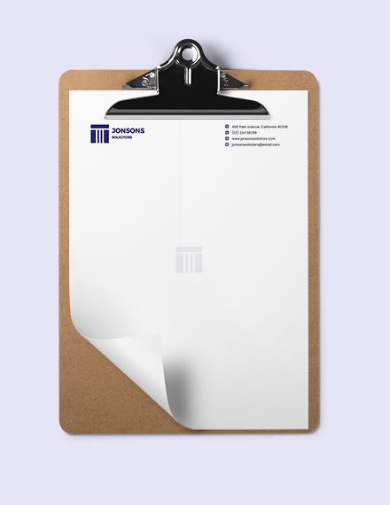 Editable Law Firm Letterhead Template