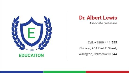 Education Business Card Template.jpe