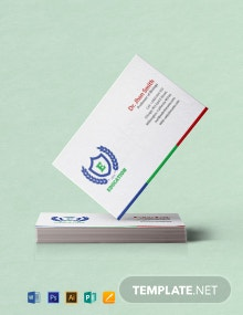 Free Education Business Card Template