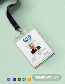 Free Education Identity Card Template
