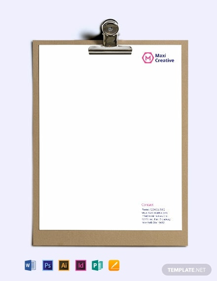Creative Agency Letterhead Template