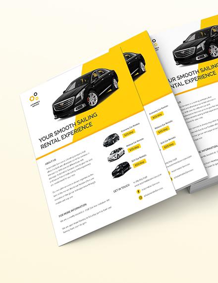 Car Rental Flyer Download