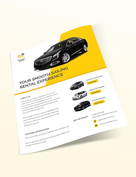 Sample Car Rental Flyer
