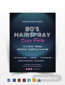 Disco Party Flyer Template