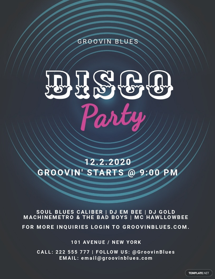 Disco Party Flyer Template.jpe