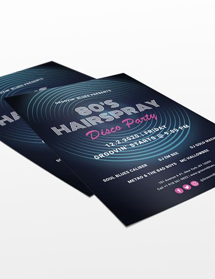 Sample Disco Party Flyer