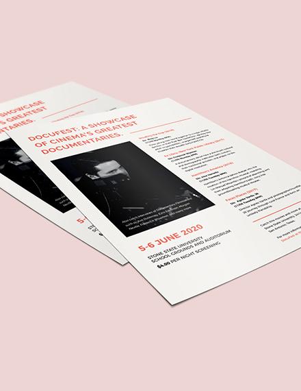 Sample Leaflet Flyer