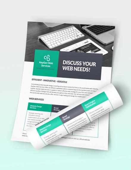 Sample Web Design Flyer