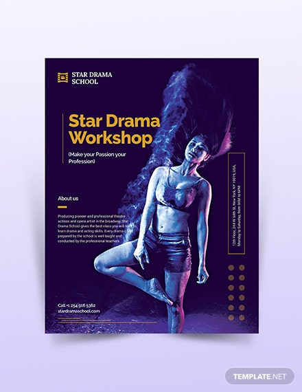 workshop flyer template 1