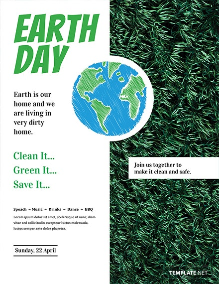 Free Earth Day Flyer Template