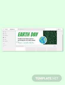 Earth Day Google Plus Cover Template