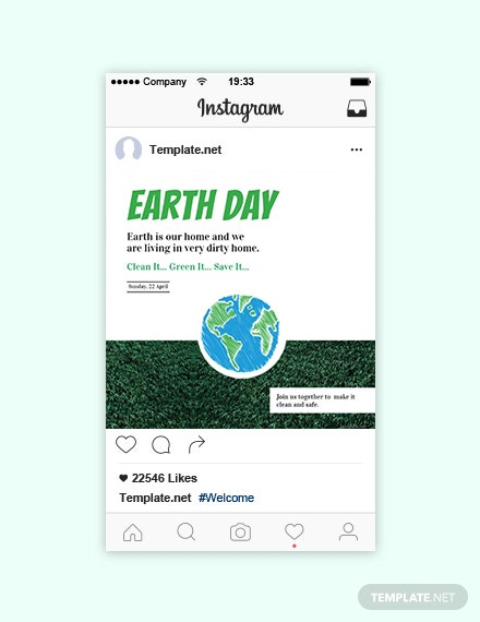Free Earth Day Instagram Post