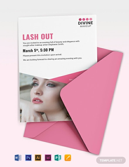 Makeup Artist Invitation Template
