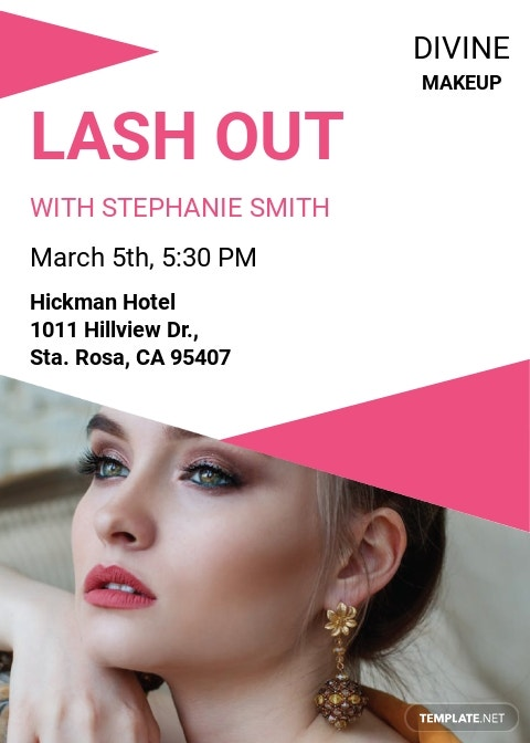 Makeup Artist Invitation Template