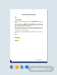 Free Letter of Introduction for Teaching Job