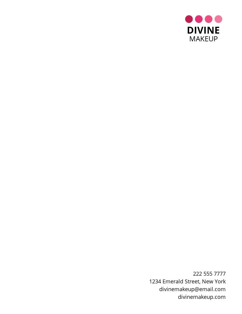 Makeup Artist Letterhead Template.jpe