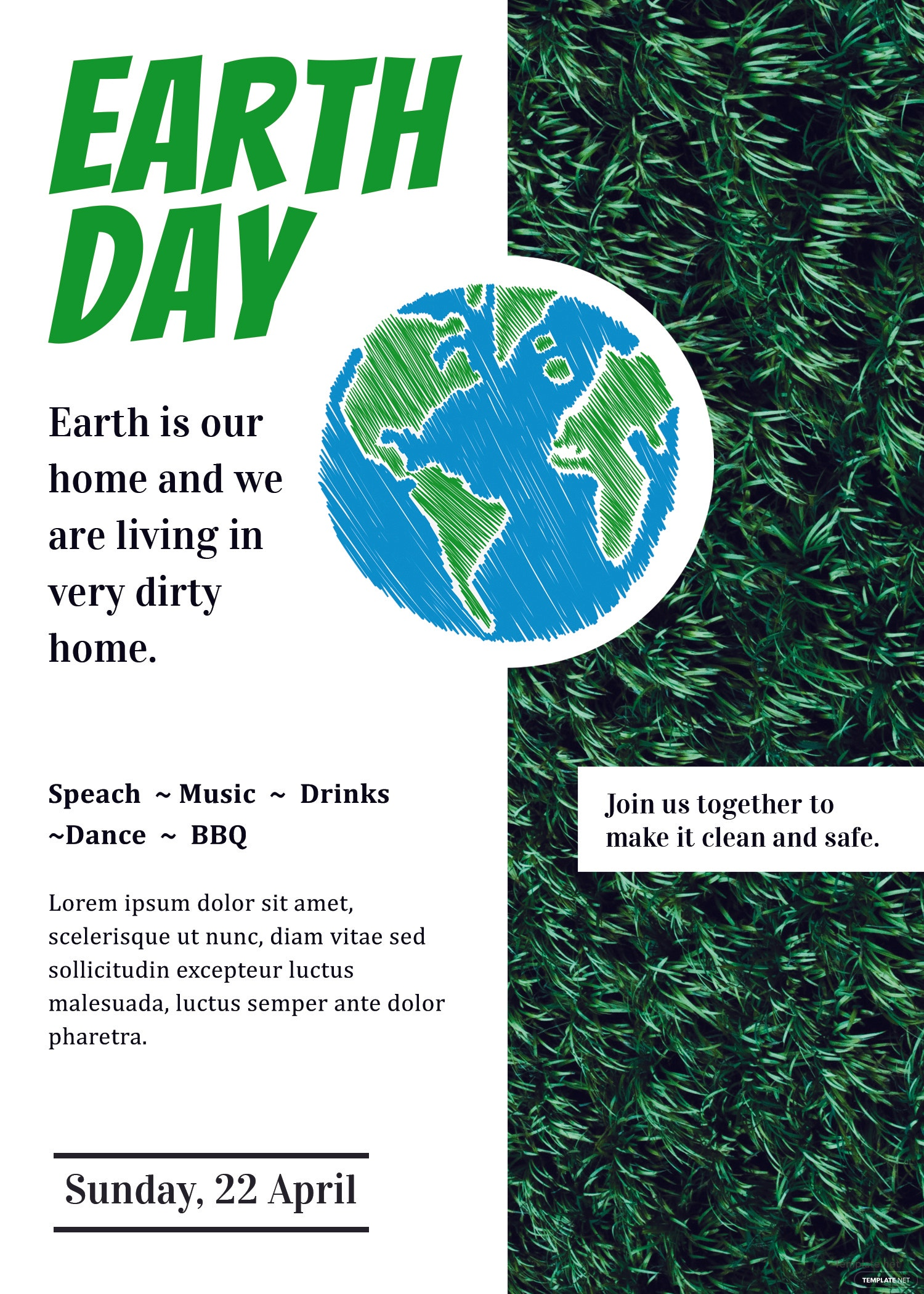 Free Earth Day Invitation