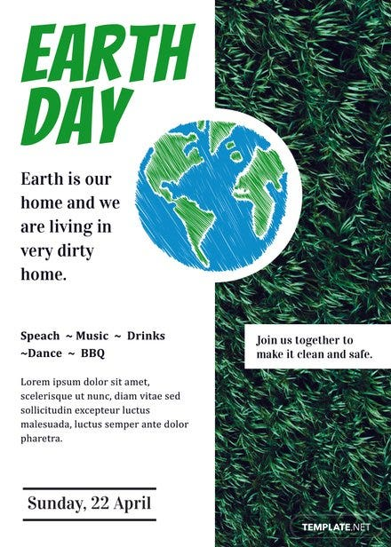 Free Earth Day Invitation Template