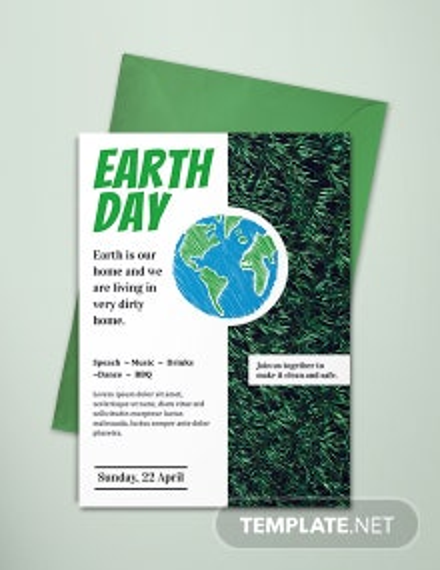 Free Earth Day Invitation Template