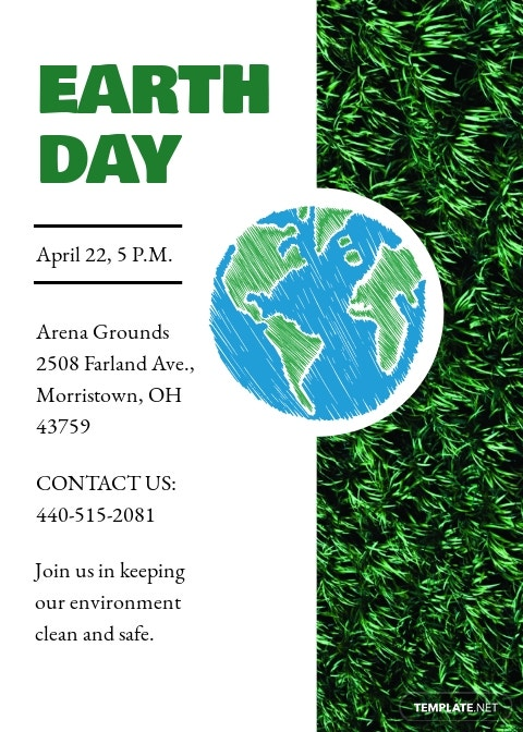 Earth Day Invitation Template