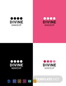 Makeup Artist logo-Design Template