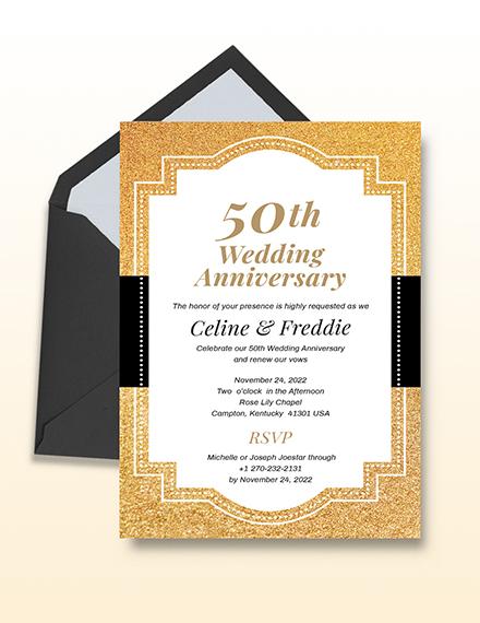 th Wedding Anniversary Invitation Download