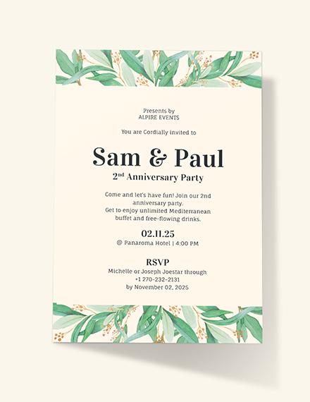 Anniversary Invitation Download