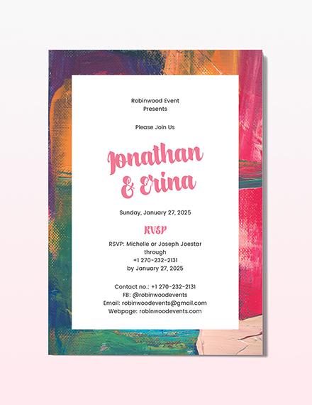 Art Deco Wedding Invitation Download