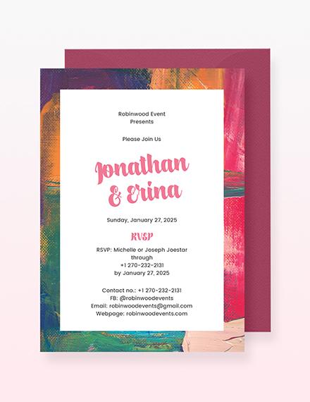 Art Deco Wedding Invitation Sample