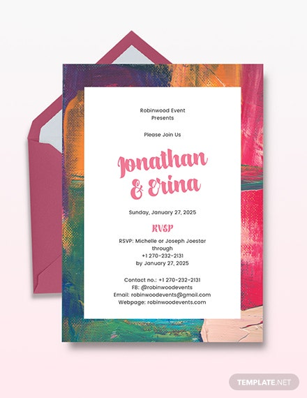 wedding invite free template