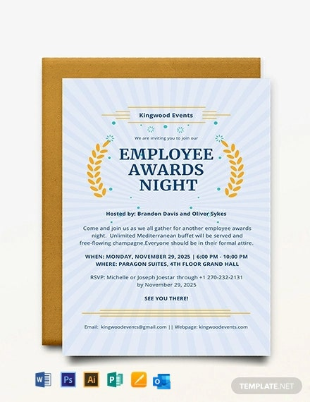Award Invitation Template
