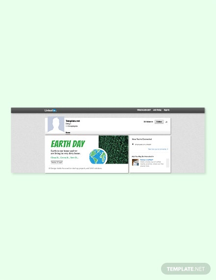 Free Earth Day LinkedIn Blog Post Template