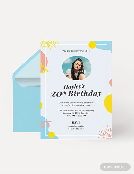 Birthday Invitation With Photo Download
