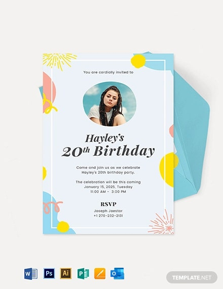 Birthday Invitation Template With Photo