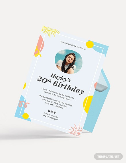 Sample Birthday Invitation With Photo